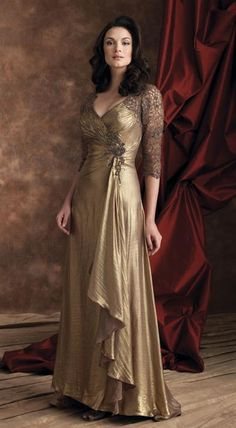 Victorian Trading Company - GILDED LAME GOWN