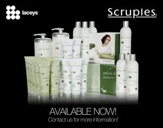 White Tea Luxury Collection. Scruples Professional Hair Care is at Laceys Hair and Beauty Supplies!  https://www.facebook.com/LaceysTeam