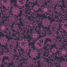 Pink Paisley Pattern Art Print