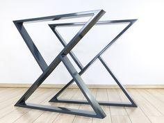 "Metal Desk Legs (28x24"", Set of 2), Home Office Desk Legs, Z-shaped Table Legs, Modern Desk Legs, Steel Desk Base for Home Office Set Up Metal Desk Legs, Steel Table Legs, Coffee Table Legs, Metal Desks, Dining Table Legs, Glass Dining Table, Modern Table Legs, Modern Desk, Modern Living"