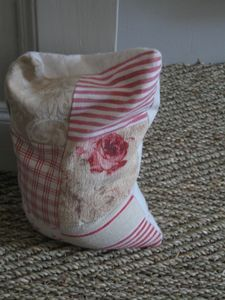 Door stopper... love this idea!! It looks easy to do, fill it with sand. I think I'd like to try this with denim.