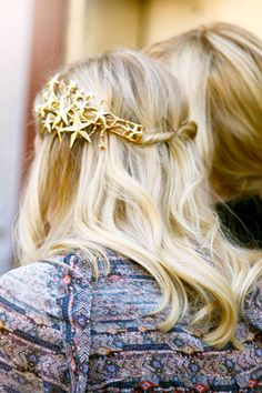 love the star hair piece! Hair Day, My Hair, Hair Cute, Coiffure Hair, Star Hair, Braut Make-up, Holiday Hairstyles, Wedding Hairstyles, Looks Style