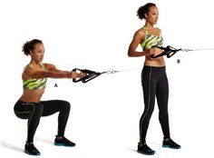 1. Cable squat to row