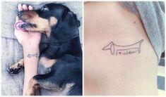 Simpatici tatuaggi con bassotti: tante idee e significato 11