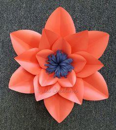 Plantilla de flor de papel de copia