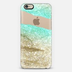 LIMITLESS GOLD & AQUA by Monika Strigel iPhone 6 case by Monika Strigel | Casetify