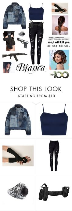 """The 100 Oc~ Bianca"" by xzaratsux ❤ liked on Polyvore featuring Dolce&Gabbana, WearAll, WithChic, RIFLE, GAS Jeans and Handle"