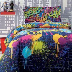 Fesselnd Graffiti Quilt Cover Set Doona Duvet Cover Boys Teen Bedding Girl Kid  Artist Art
