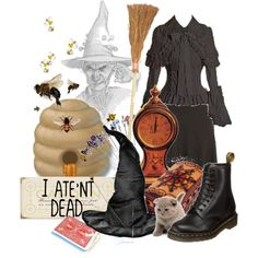 Granny Weatherwax by counterlines on Polyvore featuring polyvore, fashion, style, Dr. Martens and Humör