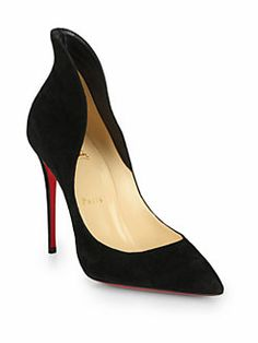 Christian Louboutin - Mea Culpa Suede High-Back Collar Pumps