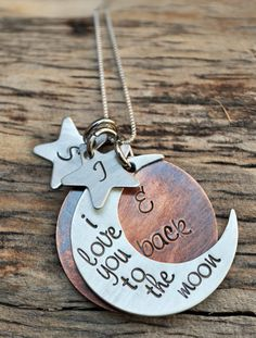 I love you to the moon and back Necklace by SayitNaturally on Etsy