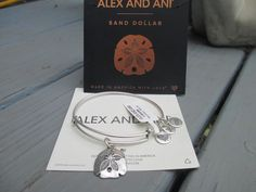 Authentic Alex and Ani Sand Dollar Charm Russian Silver  Bracelet new with card #AlexandAni