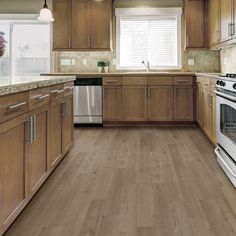 TrafficMASTER Allure 6 in. x 36 in. Adeline Oak Resilient Vinyl Plank Flooring (24 sq. ft. / case) - 82313 - The Home Depot