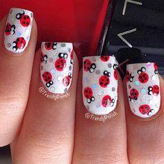 ladybug by trendypolish #nail #nails #nailart