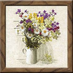 RIOLIS COUNTED CROSS STITCH KIT - WILDFLOWERS #RIOLIS