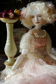 Aurore.Porcelain doll by Oksana Saharova. collection  Muses by Alphonse Mucha. Porcelain, 65cm