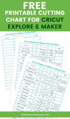 The Best Materials for Cricut Explore and Cricut Maker Machines Free printable cutting guide chart for Cricut Explore Air machines and Cricut Maker machines. Beginner's tutorial for Cricut Cricut Air 2, Cricut Help, Cricut Heat Transfer Vinyl, Cricut Vinyl, Cricut Mat, Transfer Tape, Cricut Stencils, Cricut Explore Air Machine, Circut Explore Air 2