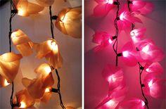 E agora um DIY iluminado...     Essas luzinhas fofas são chamadas de Fairy Lights ou Luzes de Fada ...   E elas são uma ótima opção para...