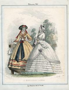 LAPL, Le Moniteur de la Mode, February 1861
