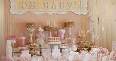 Baby shower lleno de elegancia y glamour en tonos rosa ¡Hermosa decoración! | Mas que Manualidades