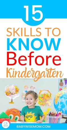 15 skills to know before kindergarten. Are you wondering what your kid needs to know before kindergarten? Here are some kindergarten skills to teach your little one before school starts. #kindergarten #kindergartenreadiness #schooltime Before Kindergarten, Starting Kindergarten, Kindergarten Readiness, Starting School, School Starts, Kindergarten Worksheets, Kindergarten Blogs, Preschool Learning, Learning Activities