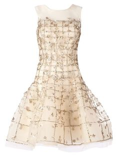 Shop Oscar de la Renta sleeveless embellished dress in L'Eclaireur from the world's best independent boutiques at farfetch.com. Over 1500 brands from 300 boutiques in one website.