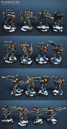 CoolMiniOrNot - Space Wolves Long Fangs with Lascannons Figurine Warhammer, Warhammer 40k Figures, Warhammer Art, Warhammer 40k Miniatures, Warhammer 40000, Warhammer 40k Space Wolves, Miniaturas Warhammer 40k, Wolf Colors, Wolf Character
