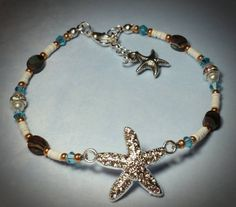 Check out this item in my Etsy shop https://www.etsy.com/listing/238483529/sparkly-starfish-anklet