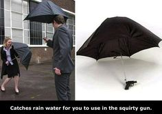 Oh, I definitely need one of these!! Umbrella Water Gun