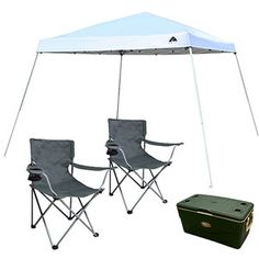 Ozark Trail 12u0027 x 12u0027 Canopy Chairs and Cooler Value Bundle  sc 1 st  Pinterest & Ozark Trail 14 x 14 Instant Canopy and Cooler Value Bundle | Stuff ...