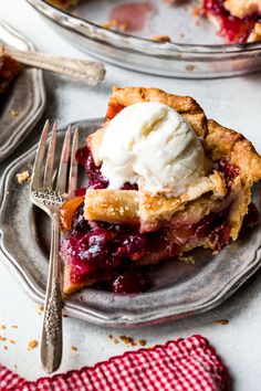 Learn how to make the best homemade cherry pie from scratch! With a buttery flaky pie crust and juicy cherry filling, this is the essential summer dessert!