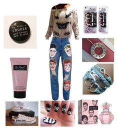 """""""When your Directioner af and this is just your at home outfit"""" by directionerfourinfinity ❤ liked on Polyvore featuring Converse and Ashish"""