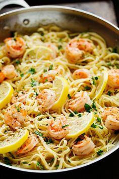 Shrimp Pasta with Lemon Cream Sauce | Little Spice Jar