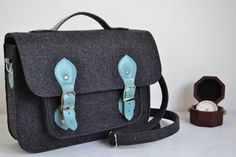15% OFF SALE, 13-inch laptop case bag,  felt bag, computer bag, leather messenger bag,  crossbody bag,  large laptop bag, by BPStudioDesign on Etsy