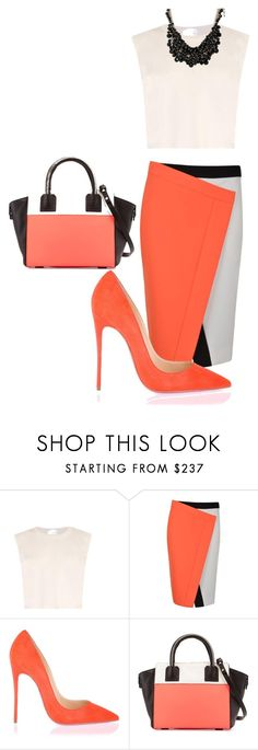 """""""Untitled #21"""" by weeky0923 ❤ liked on Polyvore featuring Raey, Fendi, Christian Louboutin, Milly and sweet deluxe"""