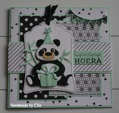 Hieperdehiep hoera Layout idea to use with other animals Kids Cards, Baby Cards, Happy Birthday Kids, Marianne Design Cards, Create A Critter, Beer Art, Elizabeth Craft Designs, Animal Cards, Masculine Cards