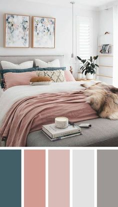 12 beautiful bedroom color schemes that will give you inspiration for your next bedroom remod. - 12 beautiful bedroom color schemes that will give you inspiration for your next bedroom remodel – - Next Bedroom, Dream Bedroom, Home Decor Bedroom, Diy Bedroom, Trendy Bedroom, Feminine Bedroom, Teal Master Bedroom, Master Bedrooms, Bedroom Modern