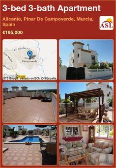 3-bed 3-bath Apartment in Alicante, Pinar De Campoverde, Murcia, Spain ►€195,000 #PropertyForSaleInSpain