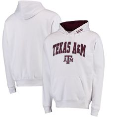best sneakers 0b79e 070fa Texas A M Aggies Arch   Logo Pullover Hoodie - White