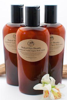 Sandalwood Vanilla Lotion Body Organic Vegan 8 by nakedeyebeauty, $14.00