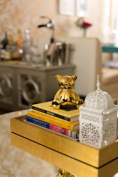 gold lacquer tray from west elm