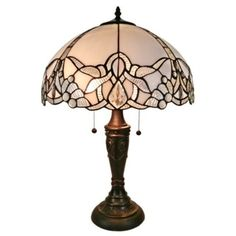 Shop for Amora Lighting Tiffany-style Jeweled White Table Lamp. Get free shipping at Overstock.com - Your Online Home Decor Outlet Store! Get 5% in rewards with Club O!