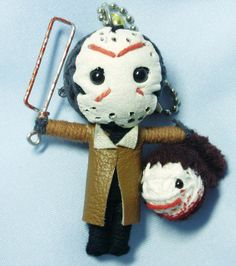 Jason Voorhees Friday the String doll Voodoo by SMhandicraft Dc Comic Books, Comic Book Characters, String Voodoo Dolls, Happy Friday The 13th, Jason Voorhees, Horror, Marvel, Christmas Ornaments, Holiday Decor