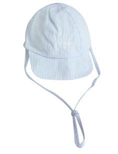 Striped sun cap for baby boys from Il Gufo