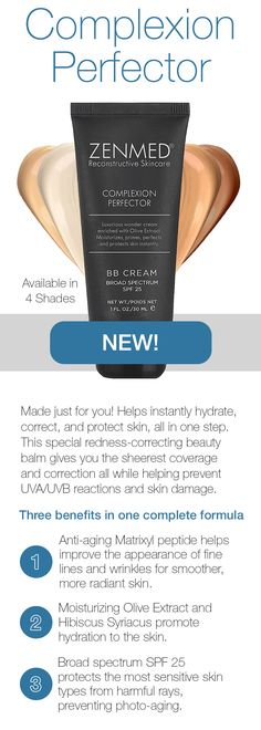 Instantly hydrate, correct, and protect skin, all in one step! Available in 4 shades to match any skin tone!