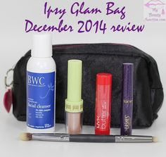 Ipsy Glam Bag for December 2014 review, unboxing via @mbeautyjunction #bbloggers #beautybox #ipsy