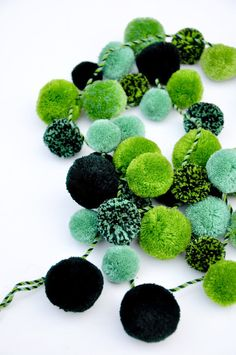 Evergreen Pompom Garland by Leif