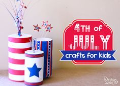 Fourth of July crafts made from recyclables. Craft with your kids using recycled containers! of July decorations using empty containers & foam. Patriotic Crafts, July Crafts, Summer Crafts, Holiday Crafts, Craft Activities For Kids, Crafts For Kids, Arts And Crafts, Daycare Crafts, Daycare Ideas