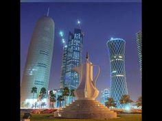 View of Doha Corniche - YouTube Instagram Pose, Doha, Skyscraper, Multi Story Building, Poses, Youtube, Corona, Figure Poses, Skyscrapers