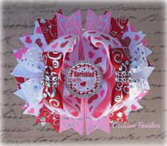 Valentines Over the Top Bow Valentine's by CreativeFinishesBows